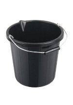 15ltr black builders bucket